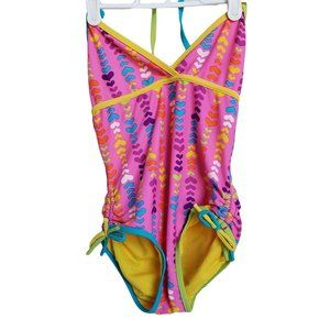 LAGUNA Pink with Colorful Hearts  Swimsuit 10